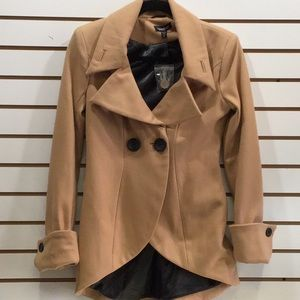 BEBE XS tan jacket/blazer Super Cute...mad hatter